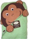 Frenchie Mini Couture Extra Large Hooded Towel, Monkey - XL Kapuzen Badetuch - Affe - aus USA