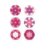 Paper Flower Brads (Crazy for you x6 flower brads)