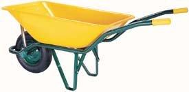 Theca M29748 - Carretilla de obra pintada amarillo