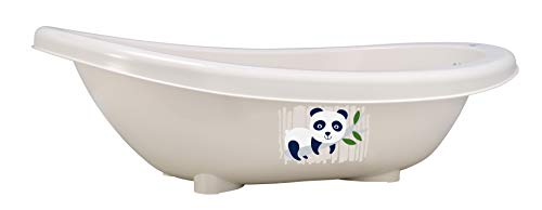 Rotho Babydesign Bio-Badewanne Panda, 100% Biologisch Abbaubar, 80 x 47 x 25 cm, Organic white (Bio-baby-badewanne)