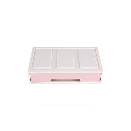Desktop Storage Box Make-up-Organisator-Behälter mit Schubladen Schmuckständer aus Kunststoff bildet Kasten Schränke Dekor, 1