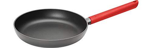 Woll 524JCR Just Cook sartén de Hierro Fundido para inducción, diámetro 24 cm, 5 cm de Alto Resistente Mango Rojo