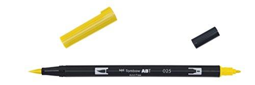 Tombow ABT-025-1P Fasermaler Dual Brush Pen mit zwei Spitzen hellorange, geblistert light orange (Orange Light)