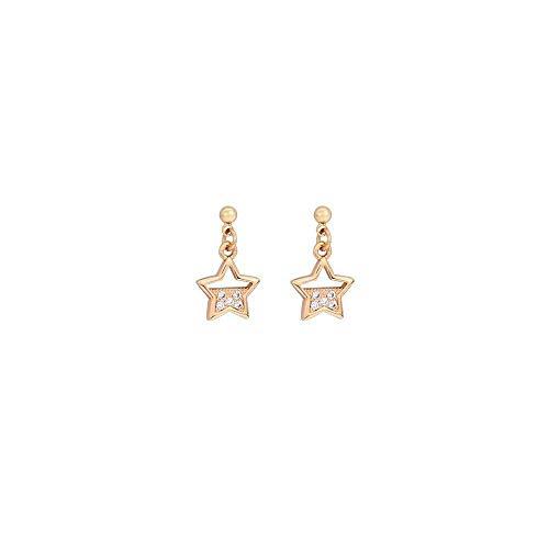 E-H Stilvolle Einfachheit Ohrringe Legierung Fünfzackigen Stern Stilvolle Einfachheit Ohrringe Weiblich Kreativ Niedlich Kleinen Duft Schmuck Weiblich - Beliebter Duft