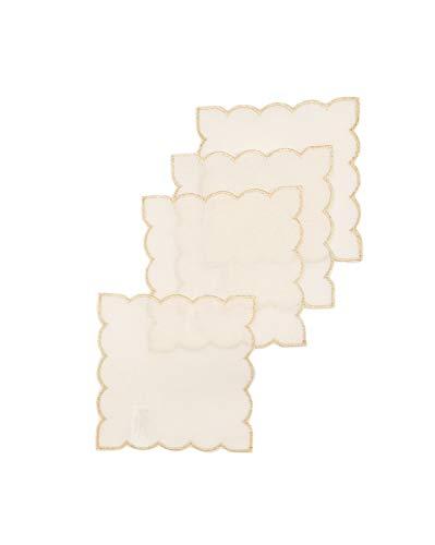 Xia Home Fashions Untersetzer, weiß, 15,2x 15,2cm