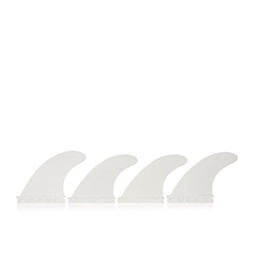 Basics Futures Compatible Nylon Quad Fins - White