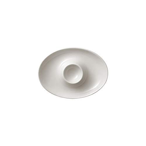 Villeroy & Boch Royal huevera con Compartimento, Premium Bone Porcelain, Blanco