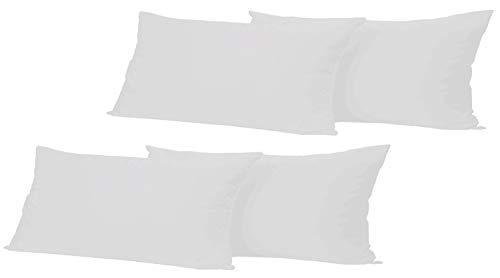 Leonado Vicenti 4 Stück Kissenbezug Baumwolle Renforce 40x80 cm Grau Kissenhülle mit Reißverschluss