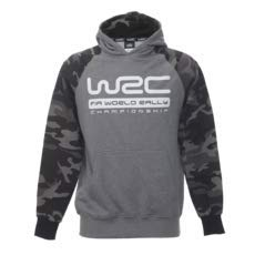Preisvergleich Produktbild WRC FIA World Rally Championship Men's Hoody Camo Sweatshirt grau XL