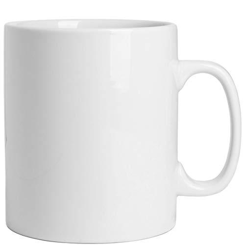 BUTLERS Colossus Riesentasse XXL aus Porzellan für 900 ml - großer weißer Becher für Tee, Kakao - Kaffeetasse