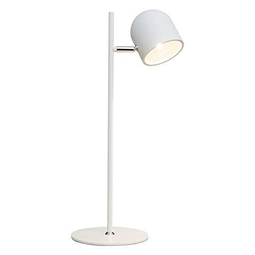 JIE Tischlampe - Tischlampe Led Eisen Kunst Touch-Schalter Kreative Moderne Einfachheit Zwei Farben Optional die Lampe Cap kann Schlafzimmer Bedside Lamp Study Room Balkon Wohnzimmer dekorative Beleu -