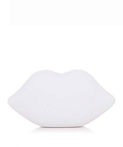 Lulu Guinness Femmes embrayage de lèvres enduit de poudre Blanc Blanc