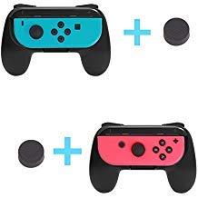 Nintendo Schalter Joy-Con Grip Kits Griff Verschleißfest Joy-Con Grips Griffe für Nintendo Schalter Gratis Zwei Schwarz Daumen Tassen Schwarz