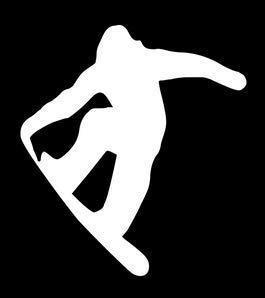 Vinyl-Aufkleber, Motiv: Claremore Snowboard-Aufkleber, 12,7 x 14 cm, weiß