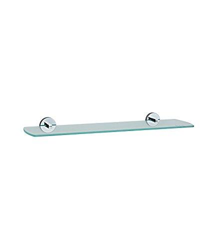 Smedbo Loft Badezimmer Glas Regal mit Klammern, silber/weiß (Klammern Regal Messing)
