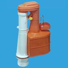 Dudley Turbo 44 25,4 cm Siphon Duoflush für Kalt- und Warmwasser für schmale Spülkästen