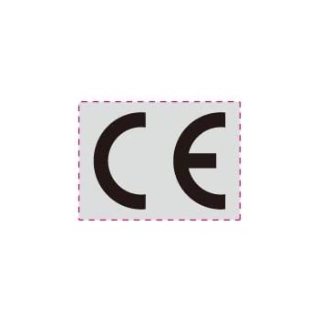 1000 St/ück CE Zeichen Aufkleber Metalllfolie selbstklebend CE-Konformit/ätskennzeichnung zur CE-Kennzeichnung ES-CESIM-1511