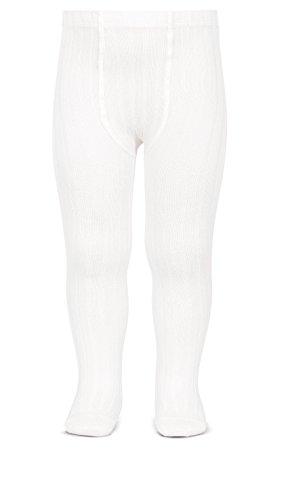 Condor Canalé - Leotardos basicos acanal, Blanco, 0 meses