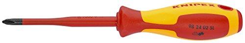 KNIPEX 98 24 02 SL Schraubendreher (Slim) für Kreuzschlitzschrauben Phillips® 212 mm
