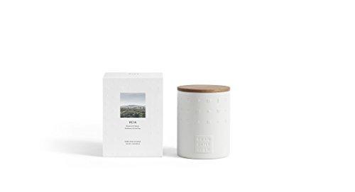 Skandinavisk Heia (Heide) Keramik Duftkerze mit Eiche geölt Deckel 300g