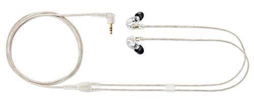 Shure SE215-CL Professionellen Ohrhörer mit Sound IsolatingTM Design, dynamischem MicroDriver und transparentem Kabel mit 3,5-mm-Klinke für transparenten Klang mit tiefen Bässen - 3