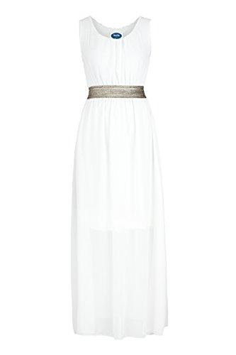 AO 4tuality® Maxikleid Chiffon Abendkleid Weiß