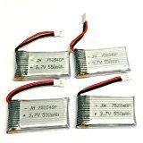 Cheerwing 3.7V 550mAh Lipo Batterie (4PCS) avec 4 en 1 Chargeur de batterie pour Syma X5SW X5 X5C X5C-1 RC Quadcopter Drone Pièces