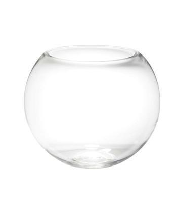 Glass Fishbowl Vase (25cm x 21cm) 1