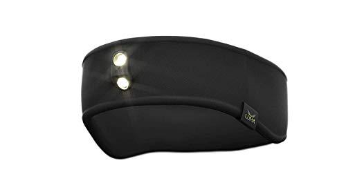 Luma active led - fascia per testa con luce frontale integrata - nero - small/medium