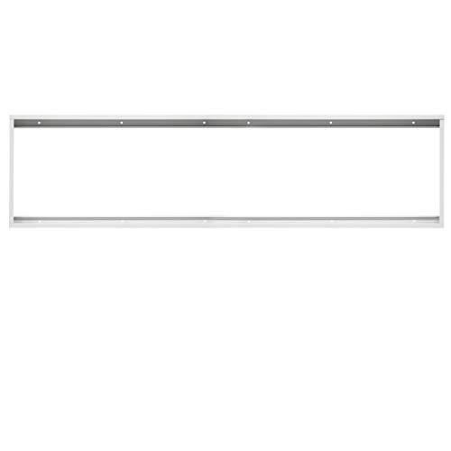 ECD Germany Cadre pour panneaux LED 120x30cm - en aluminium - blanc - pour montage mural et au plafond - cadre pour montage des panneaux LED