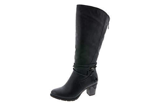 Rieker Damen Stiefel gefüttert Schwarz, Schuhgröße:EUR 40