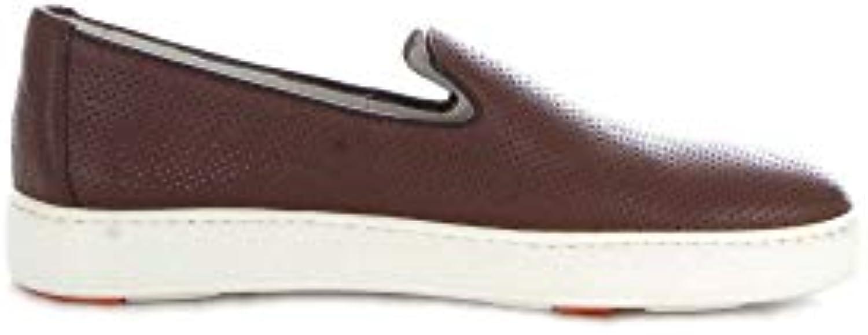 SANTONI Slip On On On scarpe da ginnastica Uomo MBCN20439BA6CFOSS40 Pelle Marronee | Materiali Selezionati Con Cura  c3e208