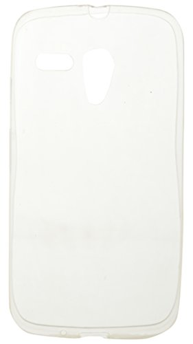 "iCandyâ""¢ Soft Silicone TPU 0.3 mm Transparent Back Cover For Motorola Moto G 1st Gen - Transparent"