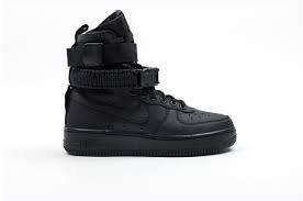 Nike Damen SF Air Force 1 Schwarz Leder Stiefel, Schwarz (Black), 40.5 EU