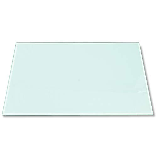 Tischplatte Aus Glas (Rapid Teck®Glasplatte Eckig 1.000 x 620mm Glastisch Tischplatte aus gehärtetem Glas Tisch Glasscheibe 6mm Dick)