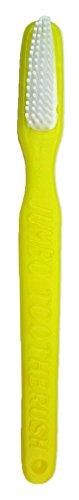 Riesen Zahnbürste Gelb - Lustige Dekoration zum Faschingskostüm Clown Arzt (Kostüme Zahnbürste)