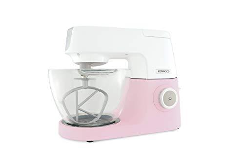 Kenwood Chef Sense KVC5100P Küchenmaschine | Bekannt aus Das große Backen | 1.200Watt | 4,6 l Füllmenge | Durchsichtige Glas-Rührschüssel | Inkl. 3-teiliges Patisserie-Set | Pink