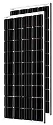 Loom solar 375 watt - 24 Volt Mono crystalline Panel (Pack of 3)