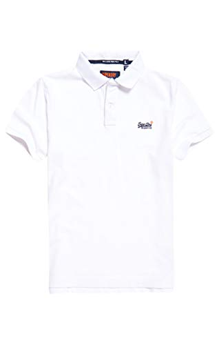 Superdry Herren Classic Pique S/S Polo Poloshirt, Weiß (Optic White 26C), XXXX-Large -