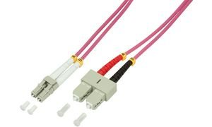Cordón De Conexión De Fibra Logilink Om4 50 / 125? Lc-Sc 5,0M