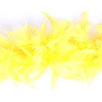 Boa di piume di marabù, dimensioni: 1,8 m x 12 cm, colore: giallo