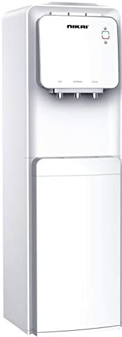 Nikai 3 Tap Free standing Water Dispenser with Cabinet, White - NWD1300C, 1 Year Warranty