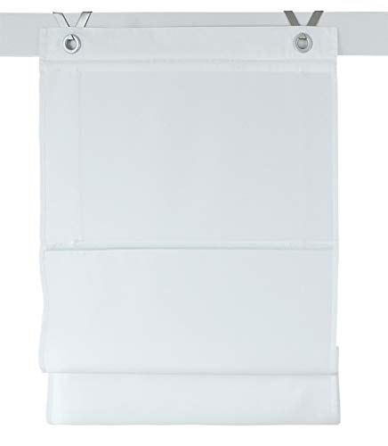 Kessy Bessy roman blind white - with grommets - appr. 60 * 140 cm by Rollos & More