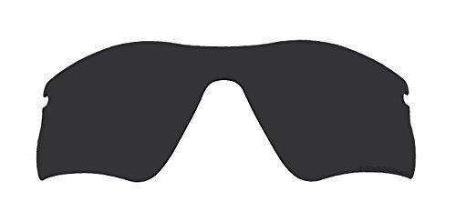 Replacement Lenses Polarized Stealth Black for Oakley Radar Range Sunglasses by BVANQ