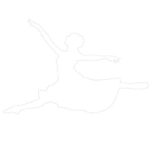 yiyiyaya Vinyl Springen Ballett Tänzerin Silhouette Wandtattoos Tanzstudio Dekoration Gilrs Schlafzimmer Wandaufkleber Afhesive Kunstwand weiß 88x59 cm -