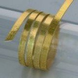Aludraht Flach Struktur 1*5 mm, 2 m gold