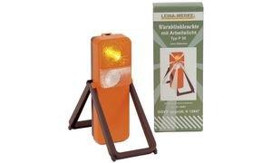 LEINA-WERKE 42001 Typ P30 Warnblinkleuchte in bedruckter Faltschachtel, 105 x 60 x 280mm, 5 Stück