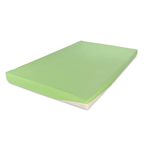 Hometex Premium Textiles Spannbettlaken Spannbetttuch bis 30 cm Steghöhe | Bettlaken aus 100% Baumwolle 145g/m² - MARKENQUALITÄT ÖKO-TEX Standard 100 | 90 x 190 cm bis 100 x 200 cm Apfel - 2