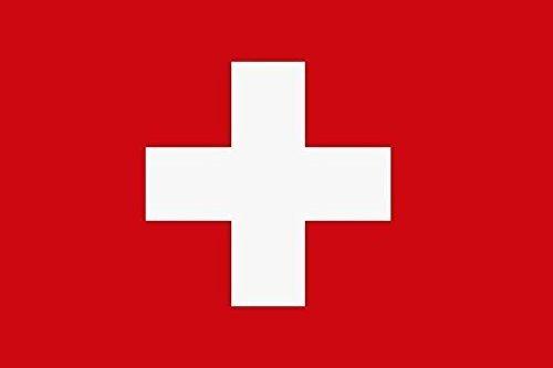 U24 Aufkleber Schweiz Flagge Fahne 8 x 5 cm Autoaufkleber Sticker