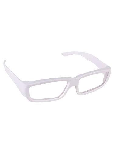 PSYWORK Schwarzlicht 3D-Brille ChromaDepth Eckig Weiß